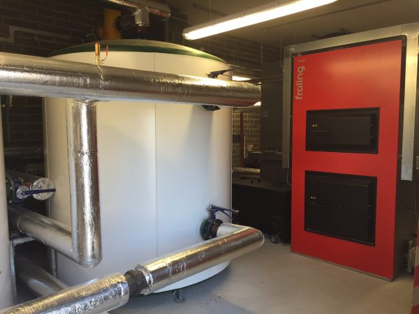 Froling TM500 biomass boiler at Boston