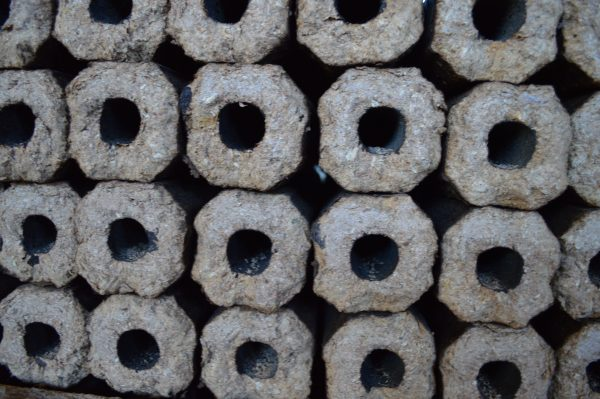 Briquettes made from sawdust