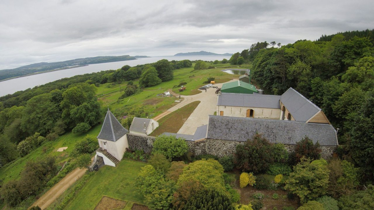 Aerial view of Ncnean distillery